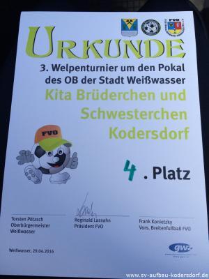 Fotoalbum 29.04.2016 Kita Brüderchen & Schwesterchen Kodersdorf bei Welpenliga