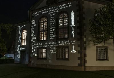 Fotoalbum Lichtinstallation Immanuel-Kirche Hehlen