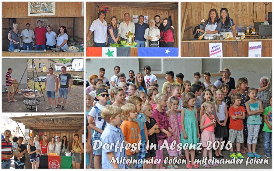 Dorffest in Alsenz 2016 - Miteinander leben - miteinander feiern