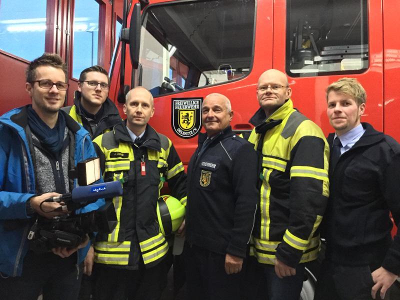 Foto der Galerie: Dreh des MDR - Feuerwehr App Sachsen unter die Lupe genommen