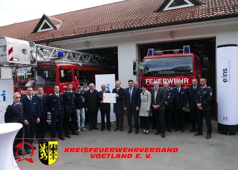 Foto der Galerie: Kreisfeuerwehrverband Vogtland erhält großzügige Spende !