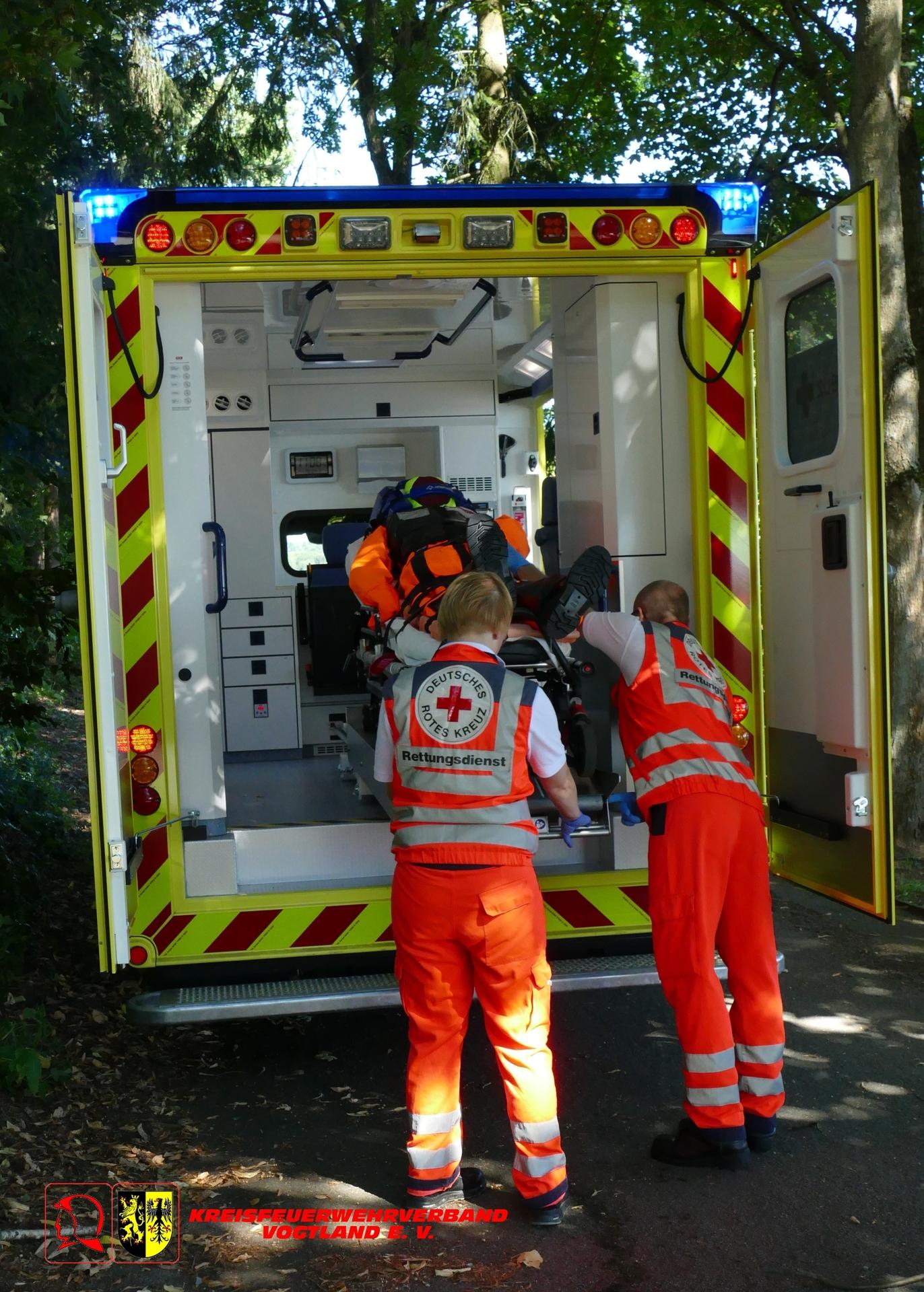 Foto der Galerie: Gemeinsame Rettungsübung der Feuerwehr und der Wasserwacht