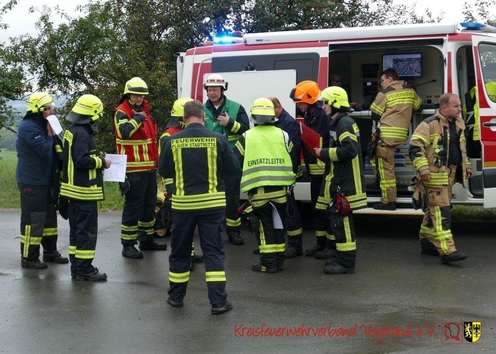 Foto der Galerie: Katastrophenschutzvollübung Vogtlandkreis 2021