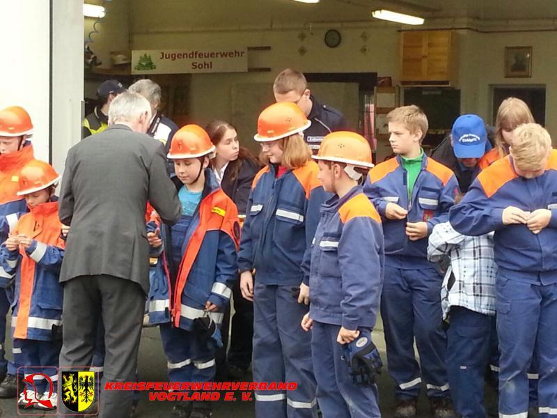 Foto der Galerie: 7. Leistungsmarsch der Jugendfeuerwehren des RB Oelsnitz in Sohl