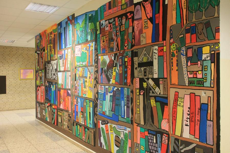 Wandgestaltung Schule