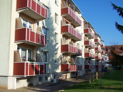 Balkonseite Feldstraße 30-36