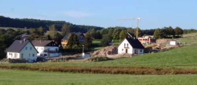 Baugebiet im Spätsommer 2004