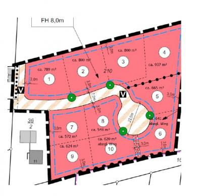 Grundstücke 2 + 3 frei