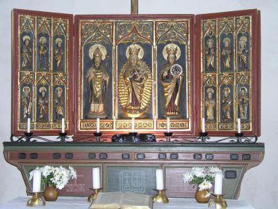 Altar der Kirche in Thomsdorf