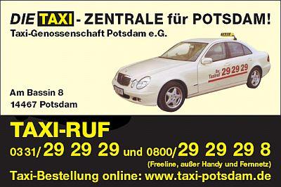 "Logo von Taxi-Zentrale Potsdam ""Am Sterncenter""  Taxi-Genossenschaft Potsdam e.G."
