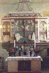 Altar der Kirche in Görsdorf