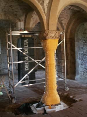 Restaurierungsarbeiten in der Krypta