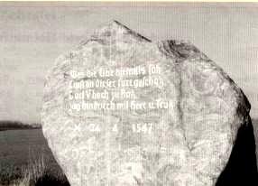 Gedenkstein in Erinnerung an den Übergang der Truppen von Karl V. über die Elbe