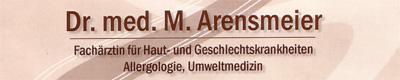 Logo von Dr. med. M. Arensmeier-Gottschalkson  FÄ f. Dermatologie u. Venerologie, Allergologie, Umweltmedizin