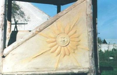 Lehmputz-Sonne