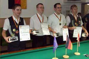 v.l.n.r. Toni Rosenberg, Marcus Marsch, Roman Bey, und Ecic Holtkamp