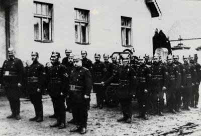 Ältestes Foto der Butzower Wehr anno 1916