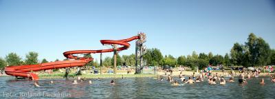 Rutsche am Mondsee / water slide