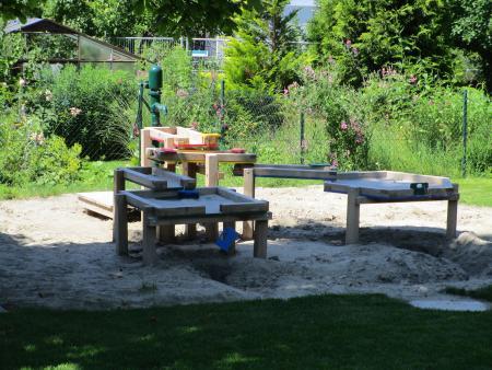 Matschanlange im Garten