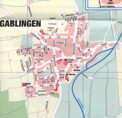 Ortsplan Gablingen-Ort