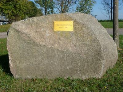 Erinnerungsstein zur Flurneuordnung 1992 - 2002