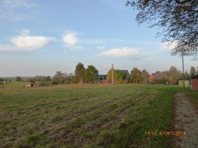 Blick über die Felder auf Klein Dammerow