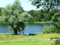 Hotelseite mit Blick zum See