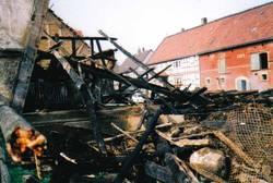 Scheunenbrand am 04. März 1984