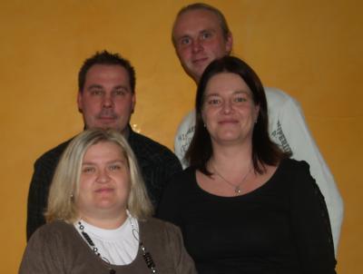 Der Vorstand (vorn v.l. Doreen Ohde, Bianca Hoffmann, hinten v.l. Jörg Garbe, Stefan Hoffmann)