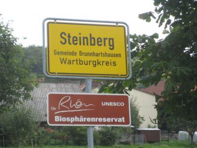 Willkommen in Steinberg, Ortsteil der Gemeinde Brunnhartshausen