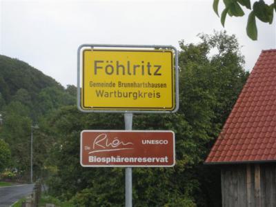 Willkommen in Föhlritz, Ortsteil der Gemeinde Brunnhartshausen