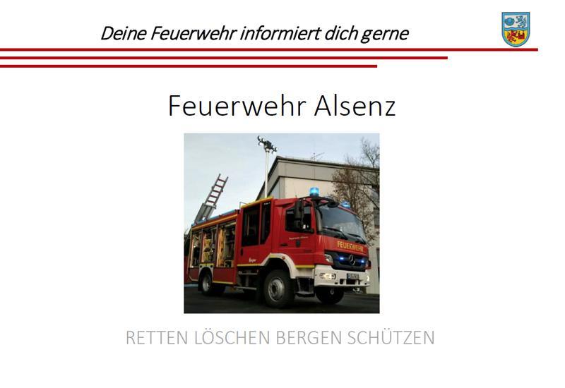 Bild Werbeflyer Feuerwehr Alsenz
