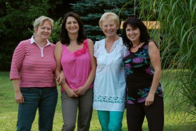 v.l.n.r.: Susanne, Rita (leider nicht mehr dabei), Marita, Dagmar