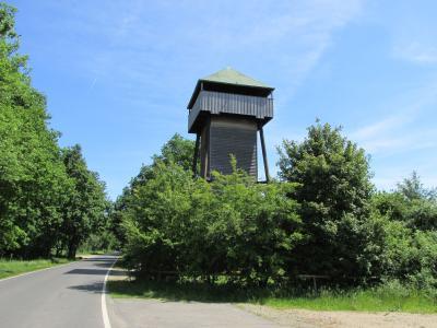 Von diesem Turm kann man die Kraniche beobachten.