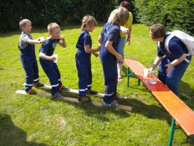 Jugendfeuerwehrlauf in Groß Langerwisch