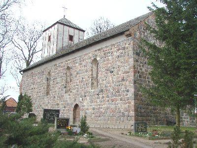 Seitenansicht der Kirche in Damme