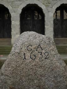 Gustav-Adolf-Gedenkstein / Gustavus Adolphus boulder