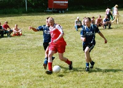 beim Fußball spielen