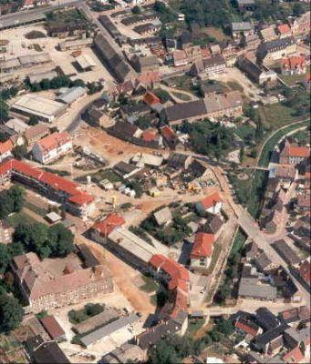 Luftaufnahme der Stadt Hecklingen