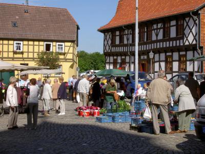 Markttreiben in Harzgerode