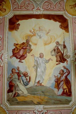 Das Deckengemälde der Mywiler Kapelle