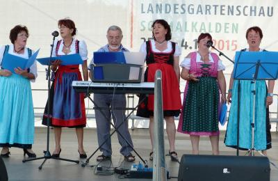 Fischbacher begeisterten das Gartenschaupublikum