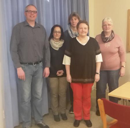Der OKR-Vorstand von links: Florian Hansen, Dorte Hansen, Eike Jürgensen, Anke Hansen, Birgit Hansen