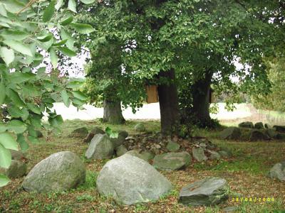 Das Schwedengrab in Carolinenthal