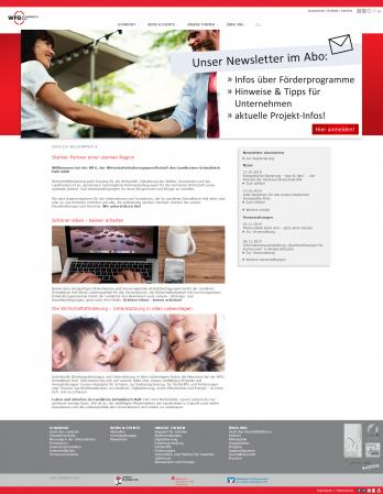 Screenshot von der Webseite