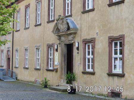 Eingangsbereich im Schloßhof