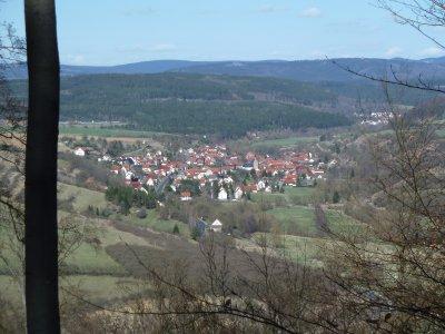 Blick vom Geroder Berg (484 m)