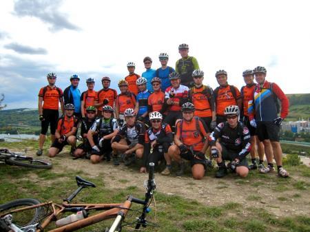 Das sind die Martinsheimer Mountainbiker auf ihrer Tour am Samstag im Rahmen der Aktivwoche.