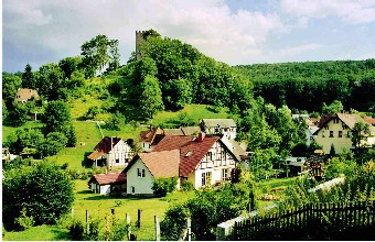 Blick zur Burgruine (Foto: Klaus Enkelmann)