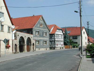 Rundbogentore aus dem Jahre 1620 in der Straße der Einheit